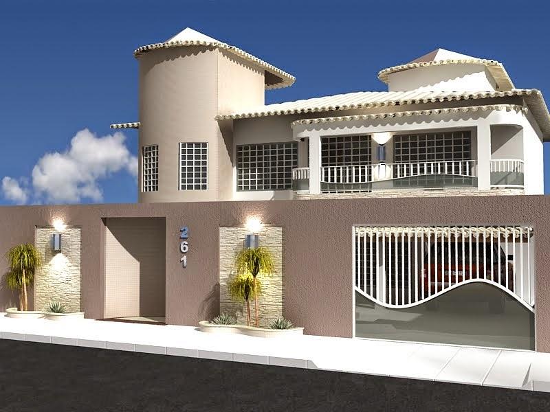 20 fachadas de casas modernas com muros e port es - Ceramica para fachadas casas ...