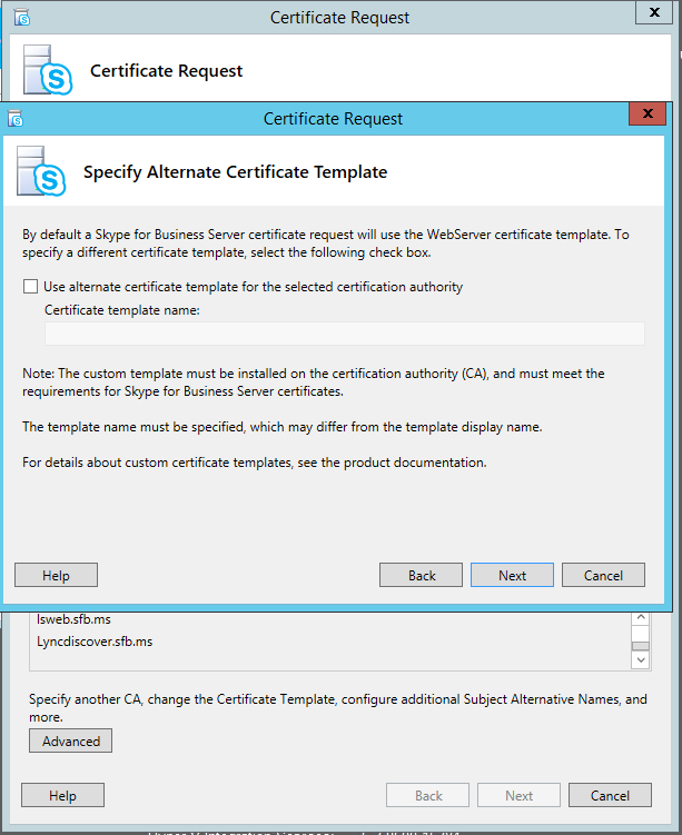 Lync me unified communications blog skype for business new custom certificate template these settings are also found in the advanced settings yelopaper Gallery
