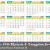 Kalender Hijriyah Jawa 2015 2016 Template