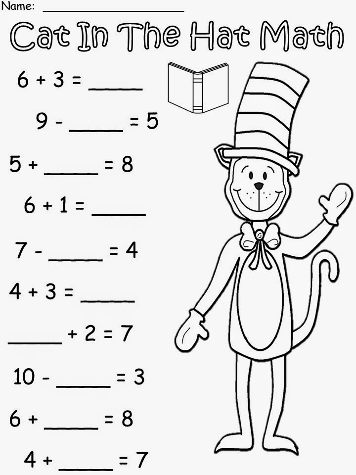 Impeccable image for cat in the hat printable activities