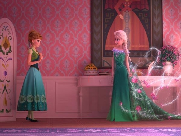 Otra imagen del cortometaje Frozen Fever de Disney.
