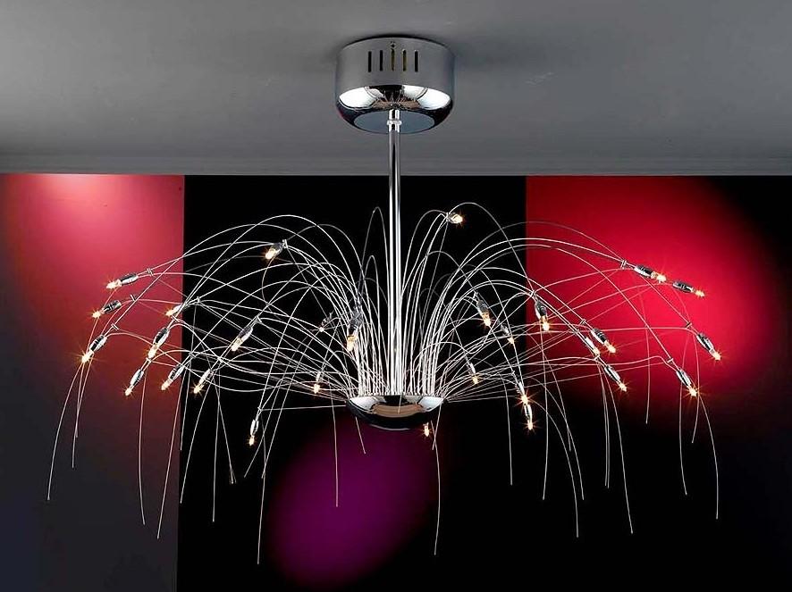 Mi casa mi hogar l mparas de cristal modernas de techo - Lamparas de techo diseno moderno ...