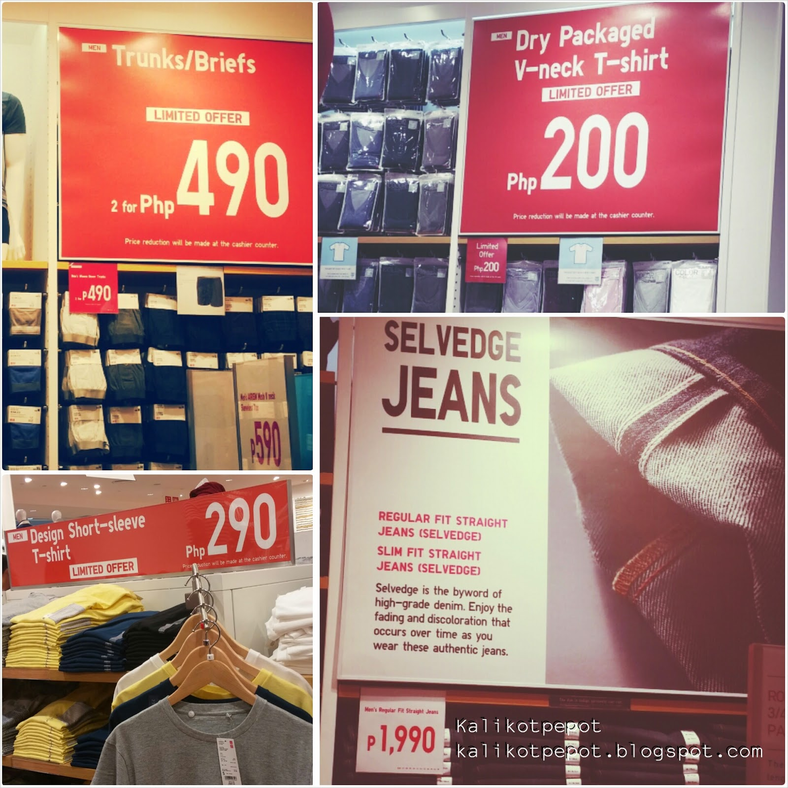 Image: UNIQLO at SM City San Lazaro [men's section]