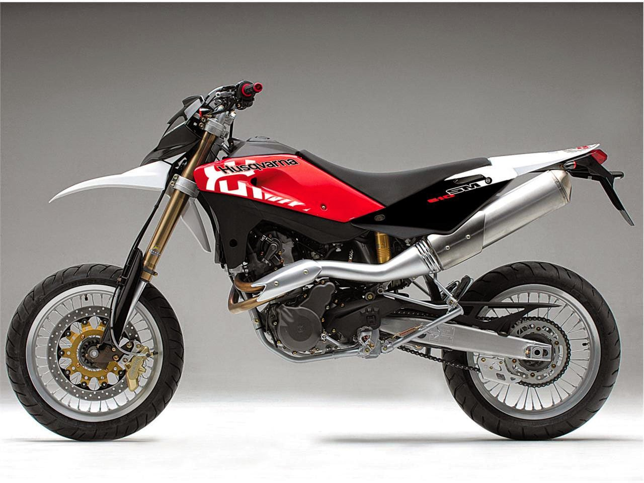 Husqvarna SM610 Red Bikes Images
