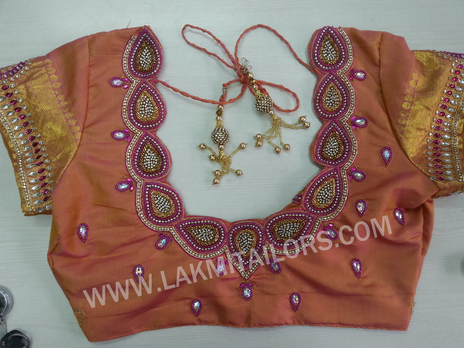 Wedding blouse hand embroidery designs from lakmi tailors ...