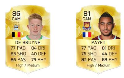 Clones baratos FIFA 16 Ultimate Team, Iniesta barato De Bruyne barato FUT 16