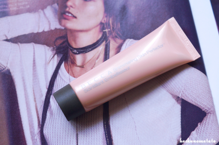 BECCA Opal Shimmering Skin Perfector swatch review FOTD