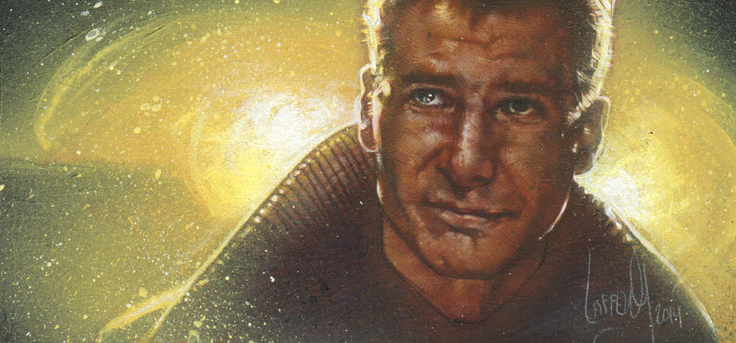 Harrison Ford as Deckard, Original Painting by Jeff Lafferty