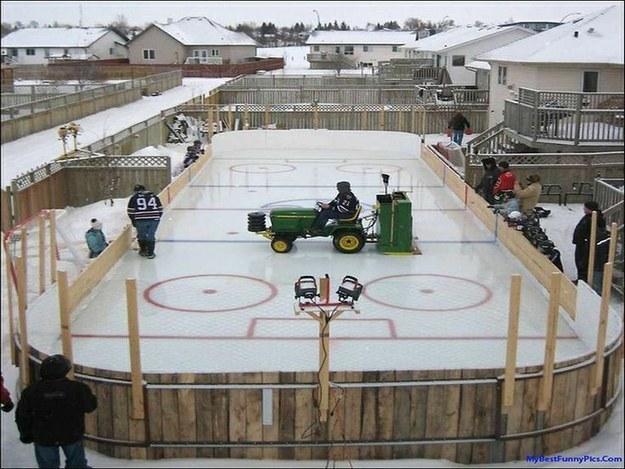 An Ice Hockey Rink