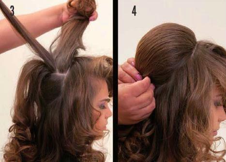 la mayor parte una trenza de recogiendo poco a poco el cabello hasta culminar en la mantener las ondas de la misma