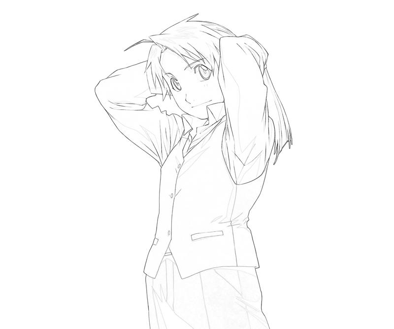 alphonse-elric-human-coloring-pages