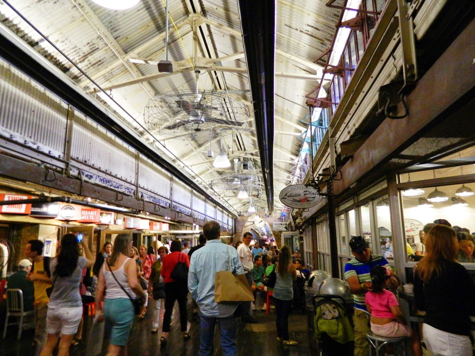 new york city chelsea market  food shops shoppers