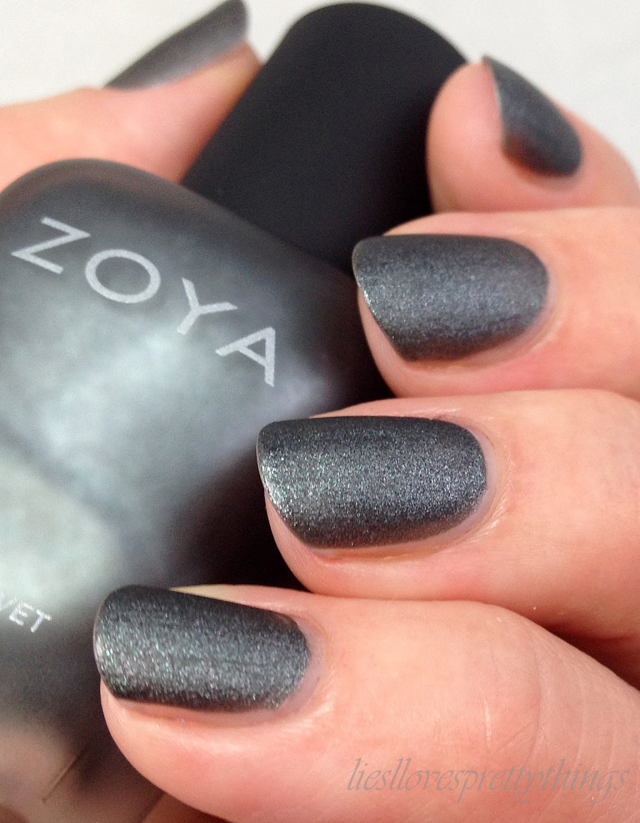Zoya Loredana, Matte Velvet Collection swatch and review