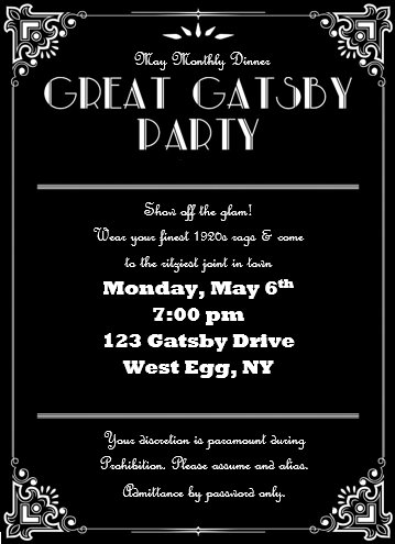Invite and Delight Great Gatsby Gala