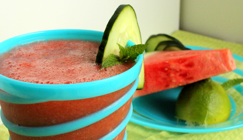 ... Weird Recipe Wednesday: Watermelon Cucumber Cooler with Mint and Lime