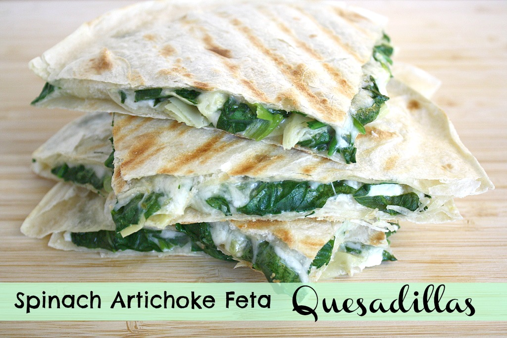 The Garden Grazer: Spinach Artichoke Feta Quesadillas