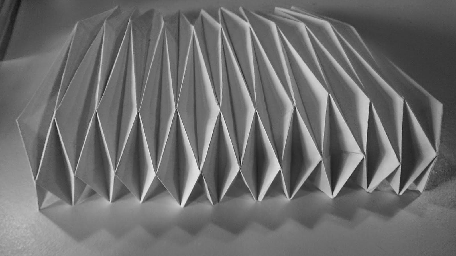 Yoshimura Pattern Folds To Generate A Form