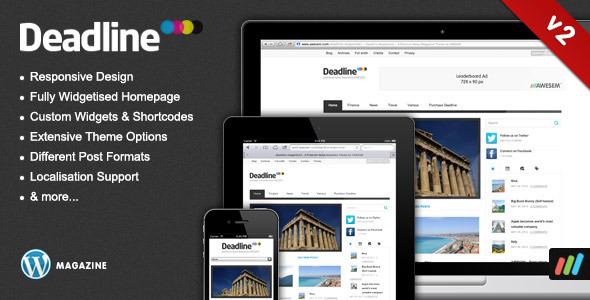 Deadline - Responsive WordPress Theme