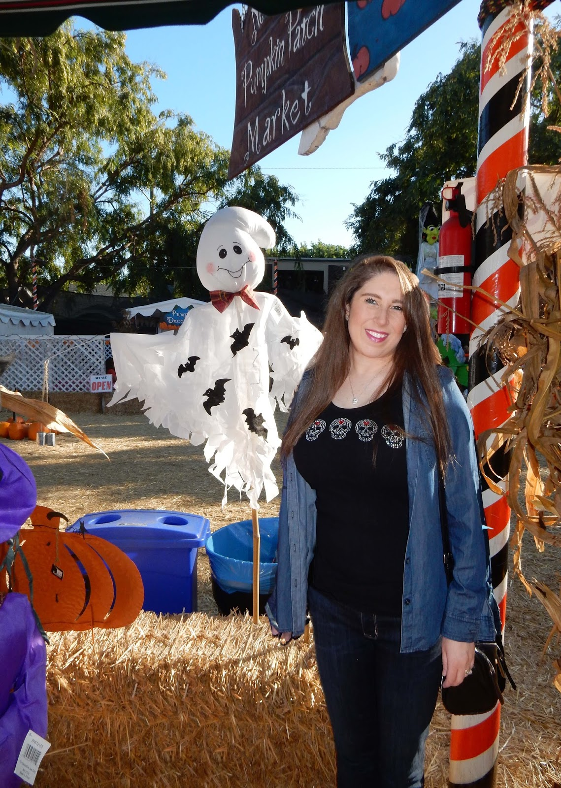 The High Heeled Brunette at Mr. Bones Pumpkin Patch Hollywood