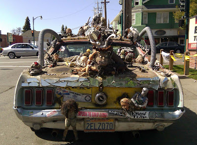 1969 Mustang Skull Art Car Falls On Hard Times - Art Car Central