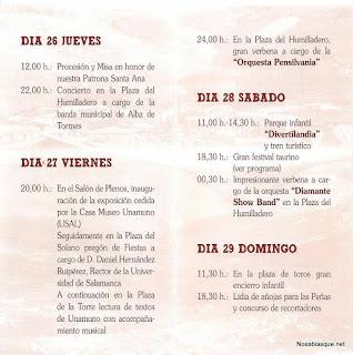 Programa de fiestas de Candelario 2012
