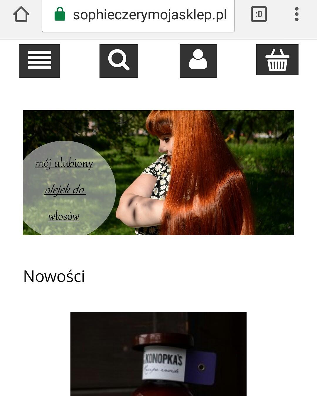 Nasz sklep www.sophieczerymojasklep.pl : )