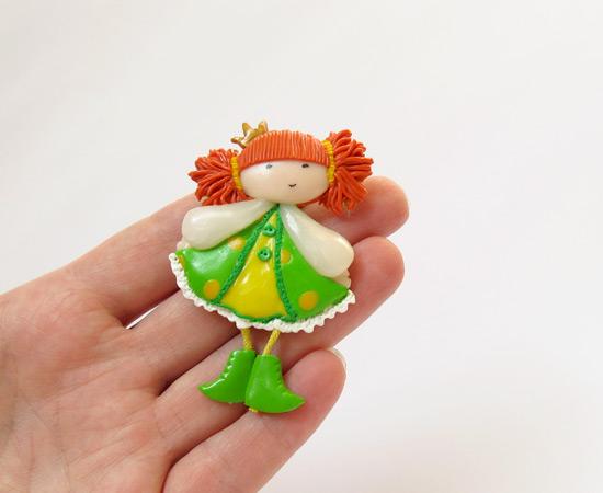 брошечка-принцесса, brooch