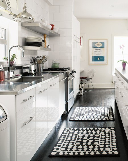 Refresheddesigns making a small galley kitchen work for Open kitchen designs photo gallery