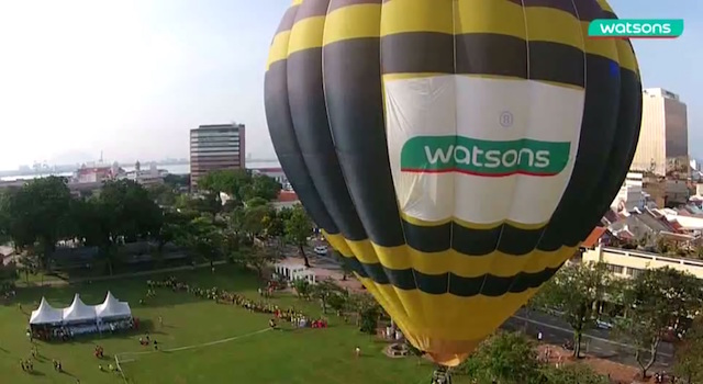 Don't miss out a ride of your life on Watsons Hot Air Balloon ride at TLC Festival 2015.
