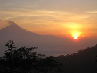 Sunrise in Menoreh Hill