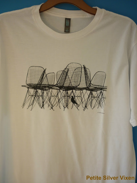 Front view of Eames Exhibition T-shirt | Petite Silver Vixen
