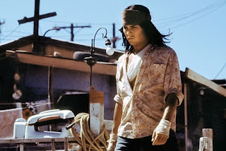 Johnny Depp as Raphael in The Brave, Directed by Johnny Depp, Shantytown, Indian American dilapidated living style