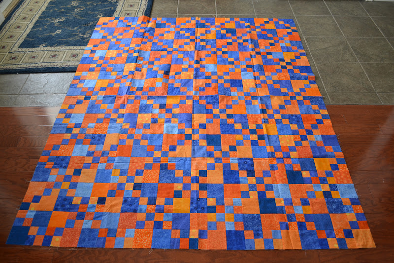 Michelle's Quilts & Stuff: Retreat Recap : blue and orange quilt - Adamdwight.com