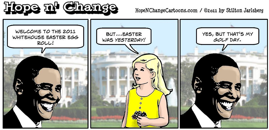 Barack Hussein Obama turns the observation of Jesus' resurrection into an athletic event at the Whitehouse Easter Egg Roll, hope n' change, hopenchange, hope and change, stilton jarlsberg