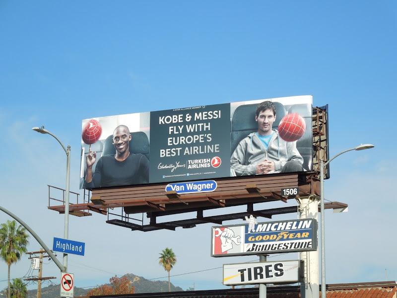 Turkish Airlines Kobe Messi billboard