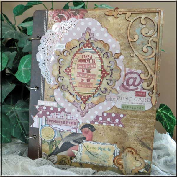 Memories Mini Album by Lynn Shokoples for BoBunny featuring the Garden Journal Collection