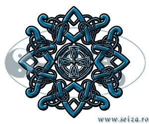tattoo design: celtic pendant and celtic cross
