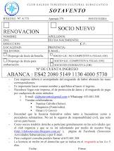 RENOVACION Y SOCIOS NUEVOS