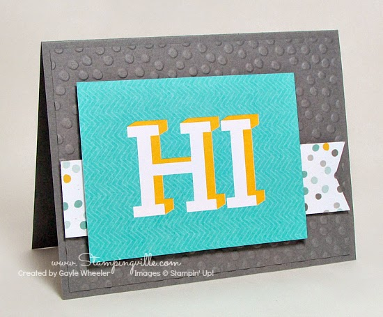 Hello greeting card using Project Life pocket card | Stampingville
