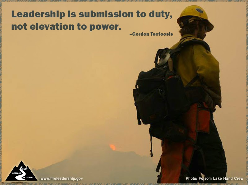 Leadership is submission to duty, not elevation to power. – Gordon Tootoosis