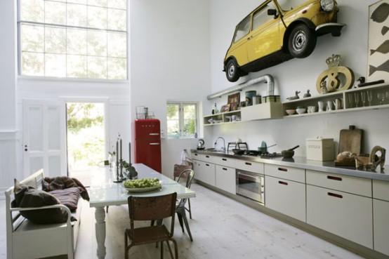 Cozinha moderna com decora o antiga jeito de casa blog de decora o - Modern keukenmodel ...