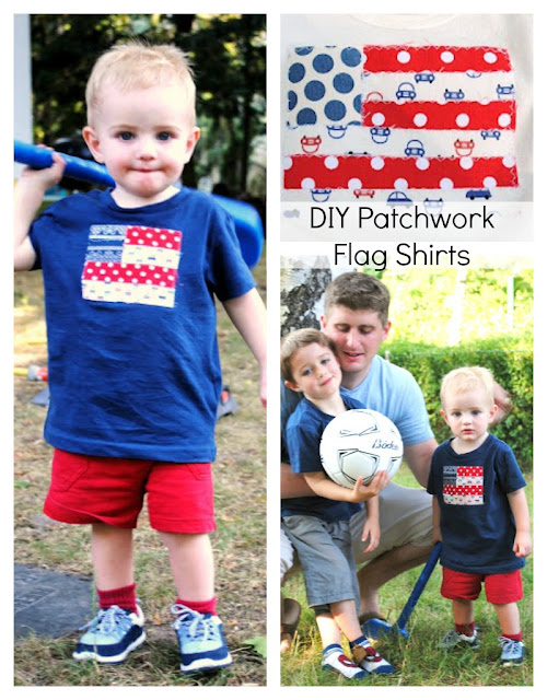 Fabric Scrap Flag Shirts
