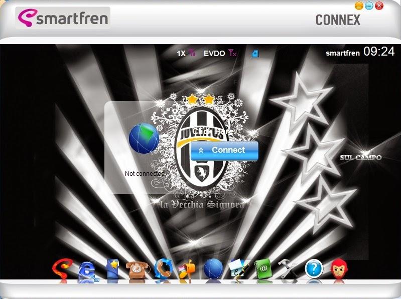 Download Skin Modem Smartfren Connex AC782 UI Edisi Juventus F.C