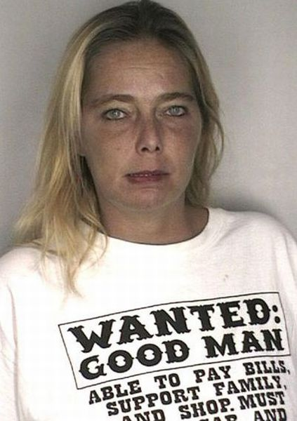 People Wearing Funny T-Shirts in Mug Shots