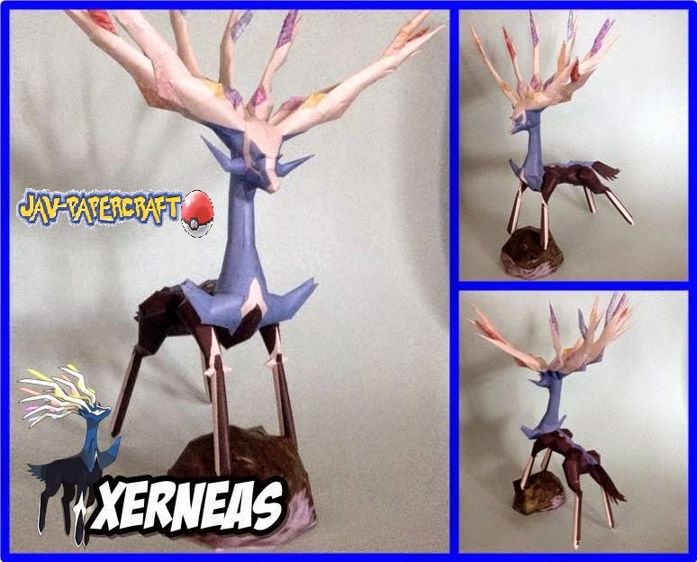Xerneas Paper Model