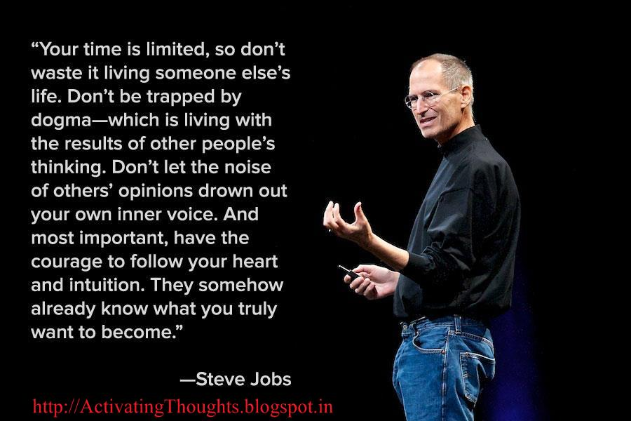 activating thoughts inspiring quotes by steve jobs
