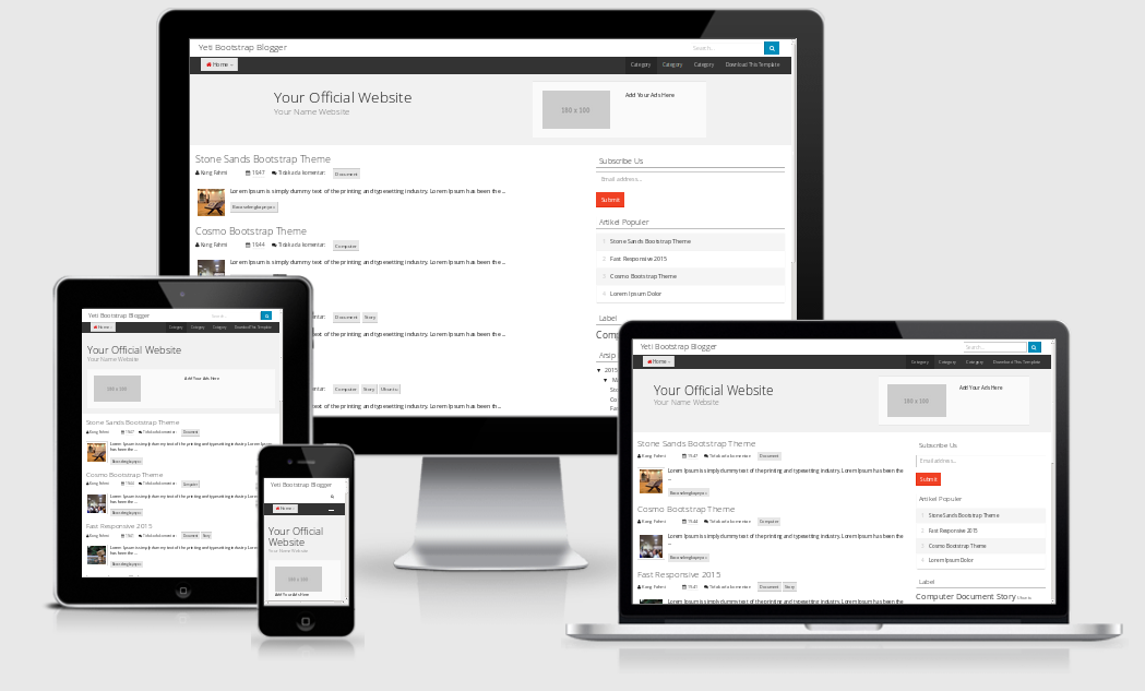 Yeti-Theme Responsive Template [Bootstrap Blogger Template]