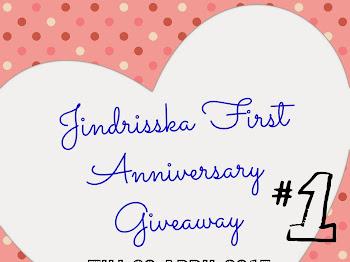 JINDRISSKA Blog Anniversary Giveaway