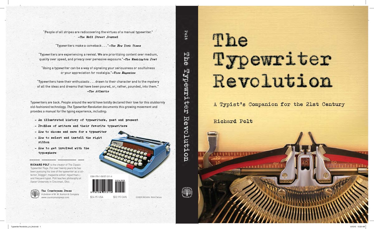 The Typewriter Revolution blog: Front & back book cover design