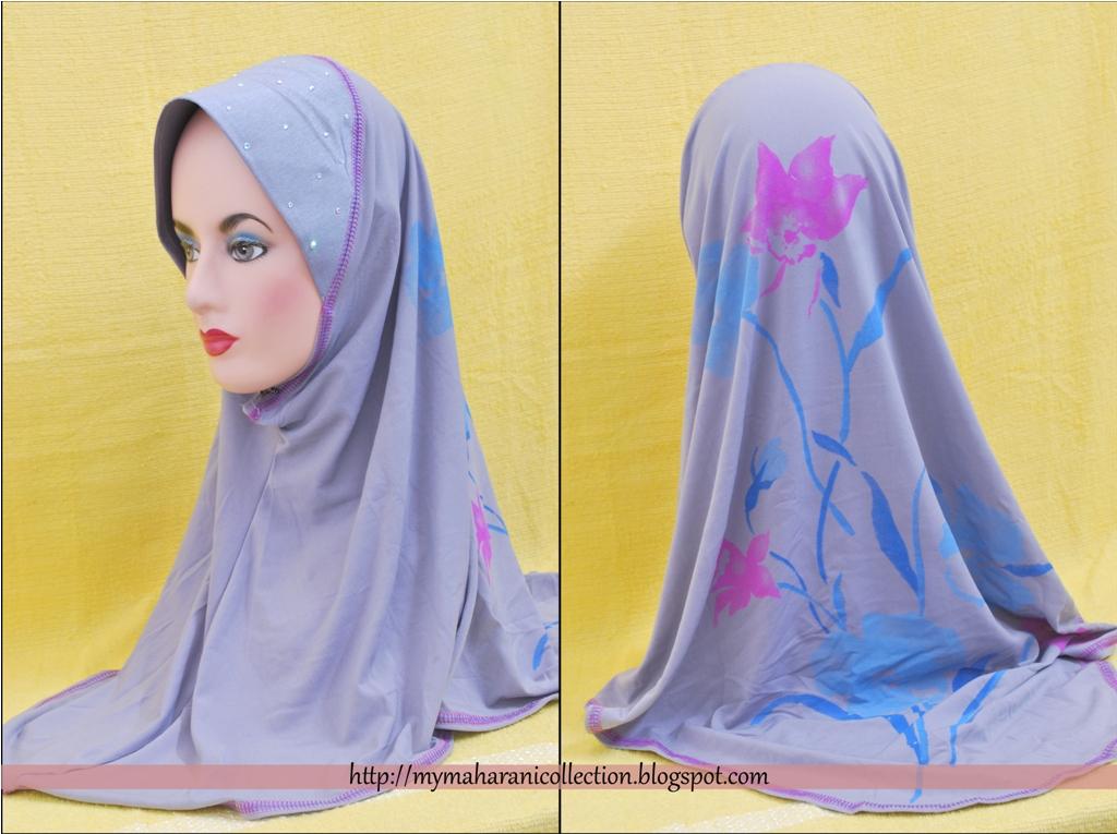 Tudung Corak Batik Maharani Collection